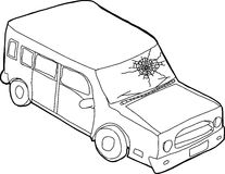 outline-car-fractured-window-single-cartoon-suv-53284851